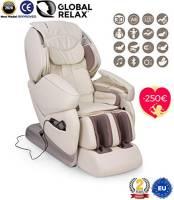 SAN VALENTINO -250€ I NIRVANA® Poltrona massaggiante Shiatsu 3D - Bianco - Poltrona massaggio con posizione Gravità Zero - Poltrona relax con 9 programmi di massaggio automatici - 2 Anni Garanzia