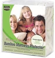 Utopia Bedding Coprimaterasso Impermeabile 90 x 200 cm - Bambu Copri Materassi - Coprimaterasso Adattabile Ipoallergenico (90 x 200 x 30 cm)