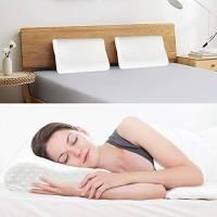 Cuscino Cervicale Memory, Guanciale Letto in Memory Foam Ergonomico per Dolori a Collo e Cervicali Memoria Cervicale-55 * 35cm