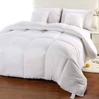 Utopia Bedding Invernale Piumone Piumino Matrimoniale - 100% Microfibra in Fibra Cava (Bianco, 230 x 220 cm)