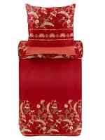 Bassetti - Biancheria da letto Civita R1, 140 x 200 cm, colore: Rosso