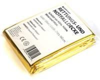 10 x Coperta di salvataggio I Coperta Isotermica I Protezione dal freddo e calore I 210x160 cm I Oro / argento