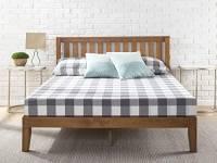 Zinus Alexia 30 cm Rete del letto con testiera / Base del materasso/ Non sono necessarie le molle/ Supporto resistente in legno per letto/ Montaggio facile/ 80 x 190 cm
