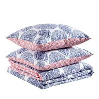 Amazon Basics - Set copripiumino in 100% cotone morbidissimo - 140 x 200 cm / 65 x 65 cm, Medaglione