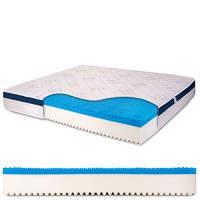 Materasso Matrimoniale memory gel 6 cm, alto 25 cm con bayscent neutralizer, Antimuffa, Ortopedico - Dolce Sonno 160 x 190 cm (matrimoniale) - Presidio Medico Sanitario n.1392037/R